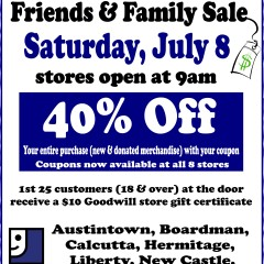 friends & family sale poster July