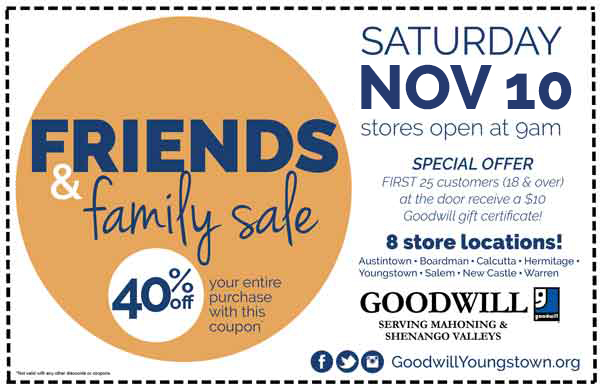 Friends & Family Sale! 40% OFF at Goodwill - Goodwill